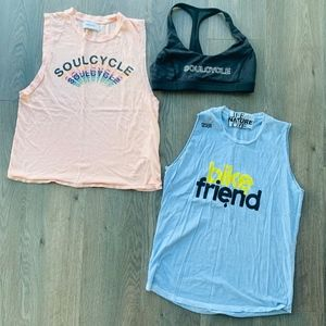 SoulCycle Bundle - 2 Tanks, 1 Sports Bra (M)